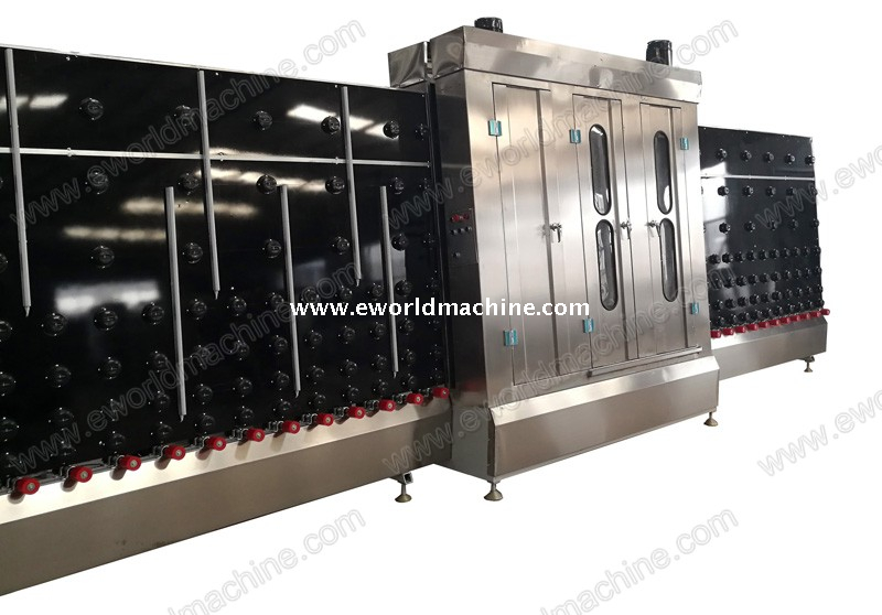 Automatic Insulating LOW E Vertical Glass Washing Machine with 1600mm Height