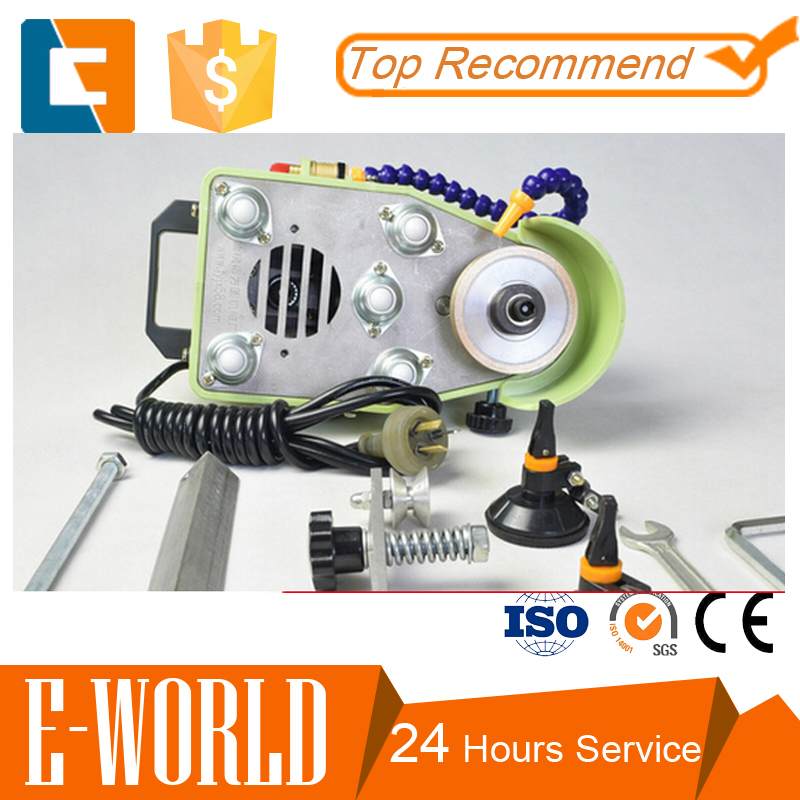 Small portable glass edging machine