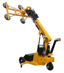 Full Electric Floor Crane Vacuum Lifter for Glass, Marble, Wood Panel
