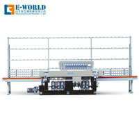 PLC 9 Spindles Glass Straight Line Edging Machine