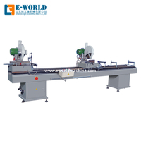 UPVC PVC window Profile Double Head Cutting machine